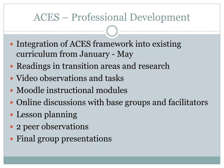 Aces professional development