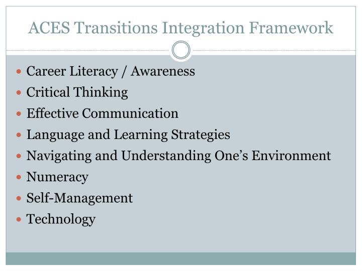 ACES Transitions Integration Framework