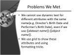 problems we met1