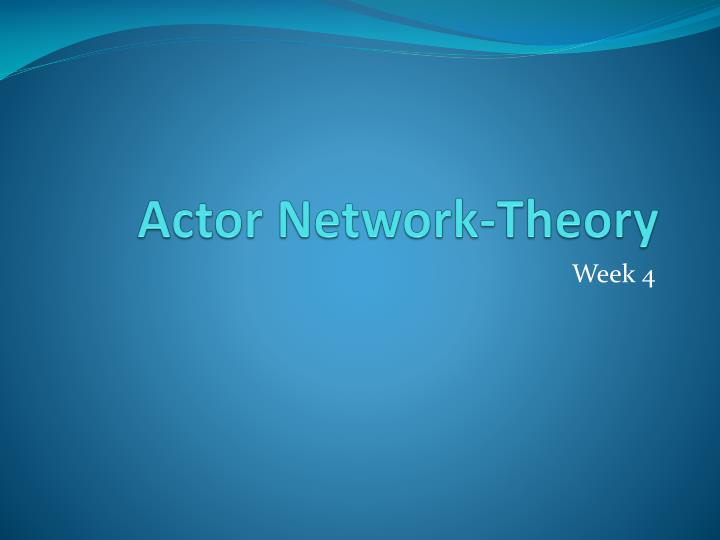 actor network theory n.