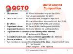 qcto council composition