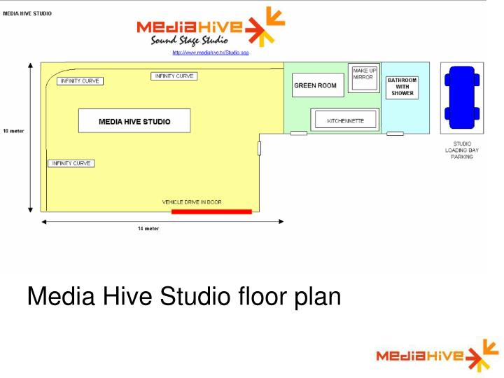 Media Hive Studio floor plan