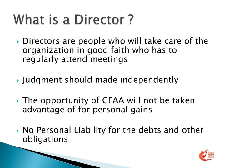 What is a Director ?