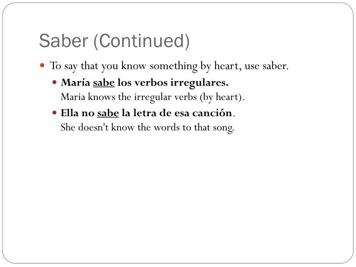 Saber (Continued)