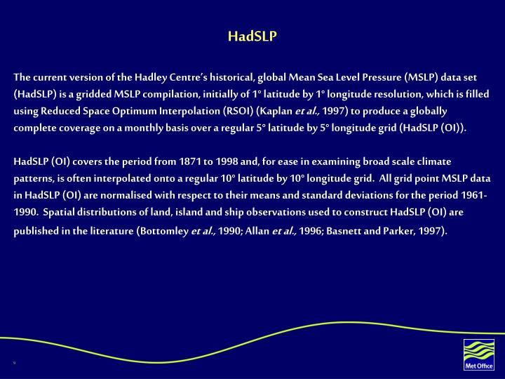 HadSLP