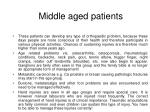 middle aged patients