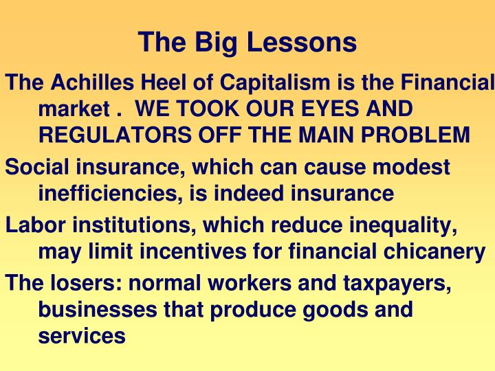 The Big Lessons