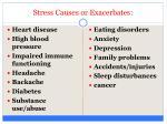 stress causes or exacerbates