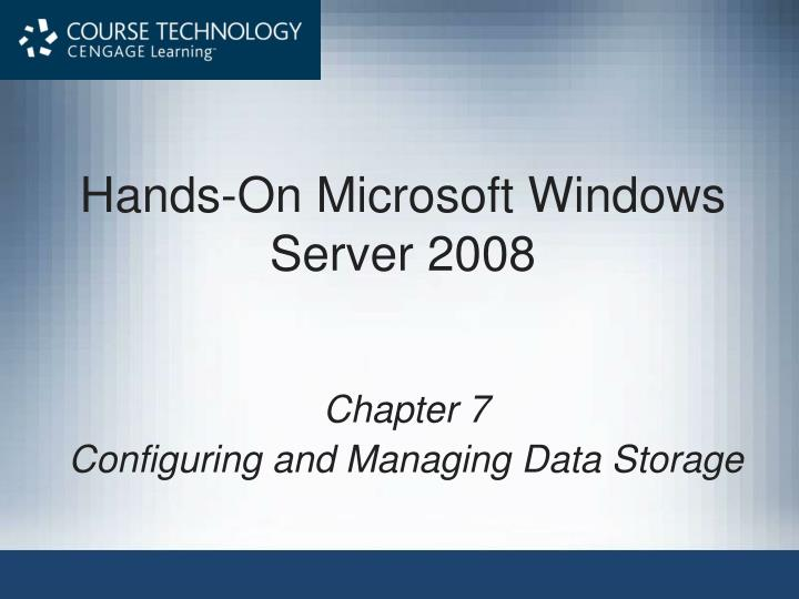 Hands on microsoft windows server 2008