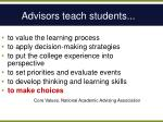 advisors teach students1