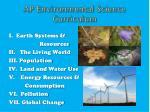 ap environmental science curriculum