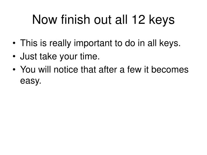 Now finish out all 12 keys