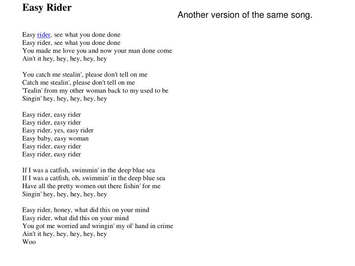 Another version of the same song.