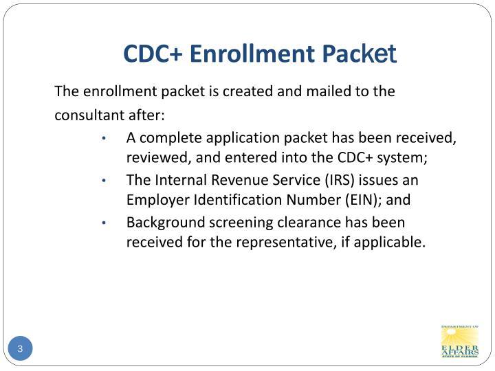 Cdc enrollment pac ket
