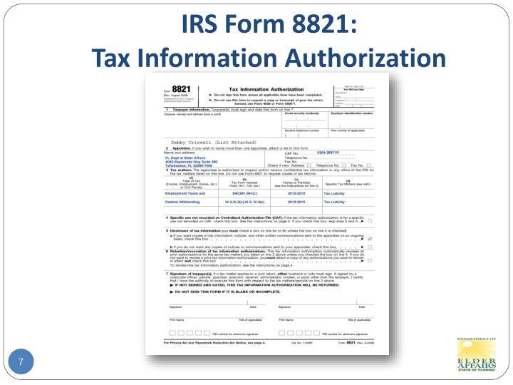 IRS Form 8821: