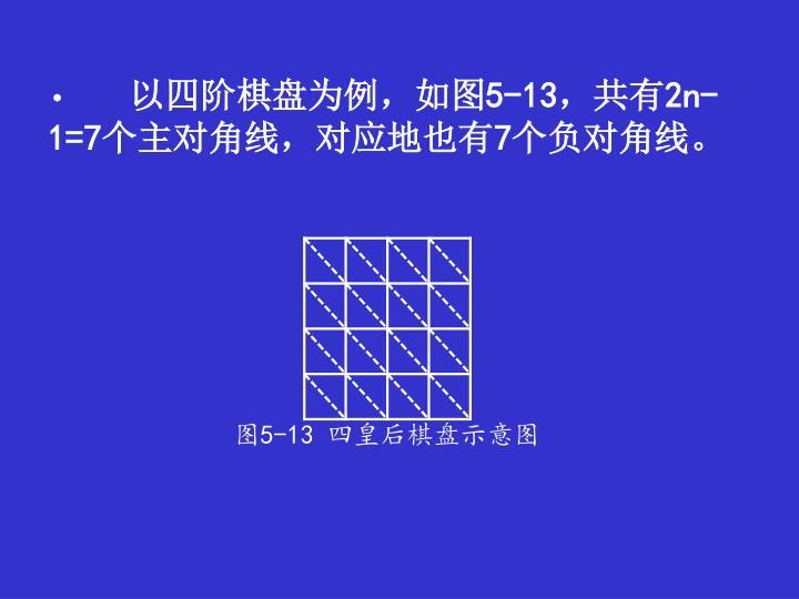 以四阶棋盘为例,如图