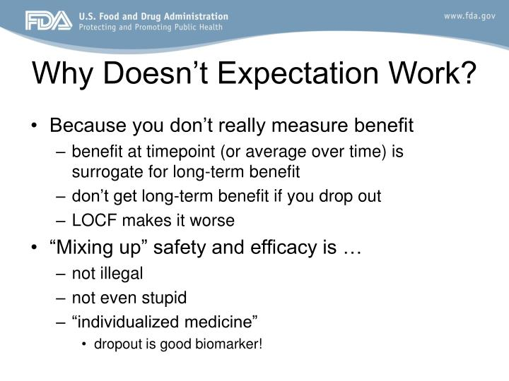 Why Doesn't Expectation Work?