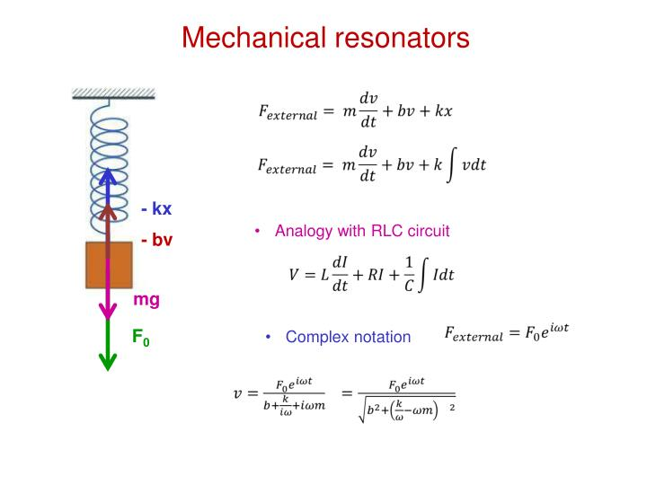 Analogy with RLC circuit