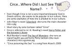 circe where did i just see that name