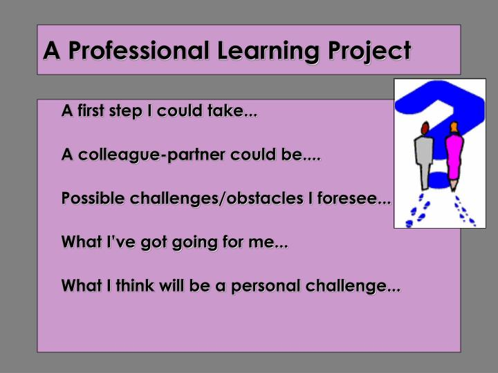 A Professional Learning Project