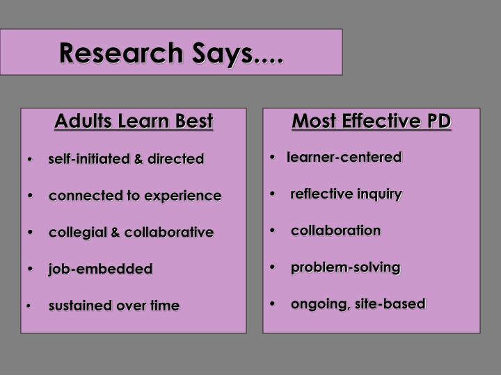 Adults Learn Best