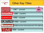 other key titles