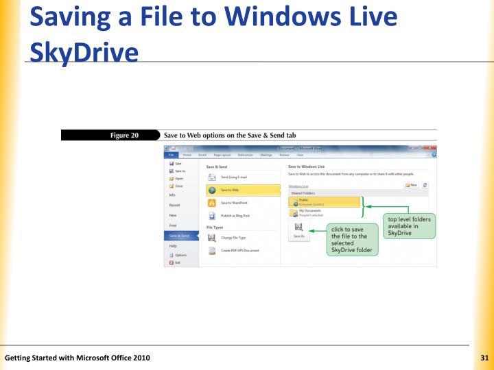 Saving a File to Windows Live SkyDrive