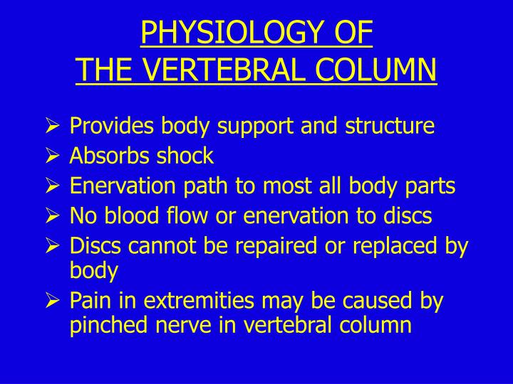 PHYSIOLOGY OF