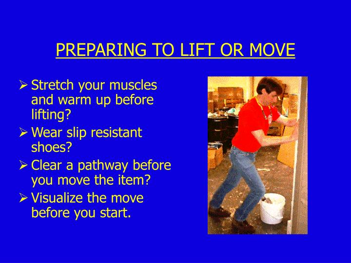 Stretch your muscles and warm up before lifting?