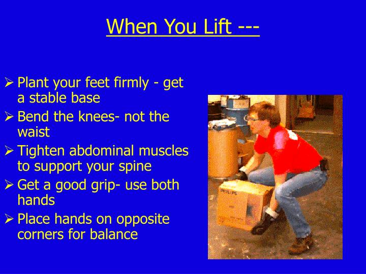 Plant your feet firmly - get a stable base