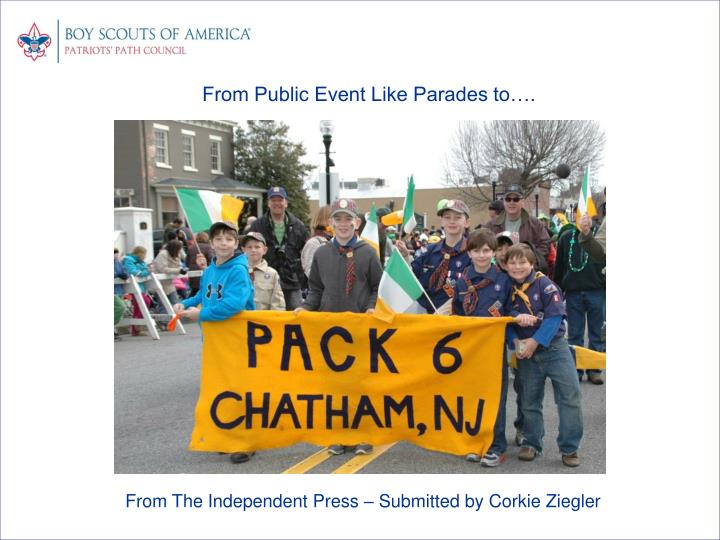 From Public Event Like Parades to….