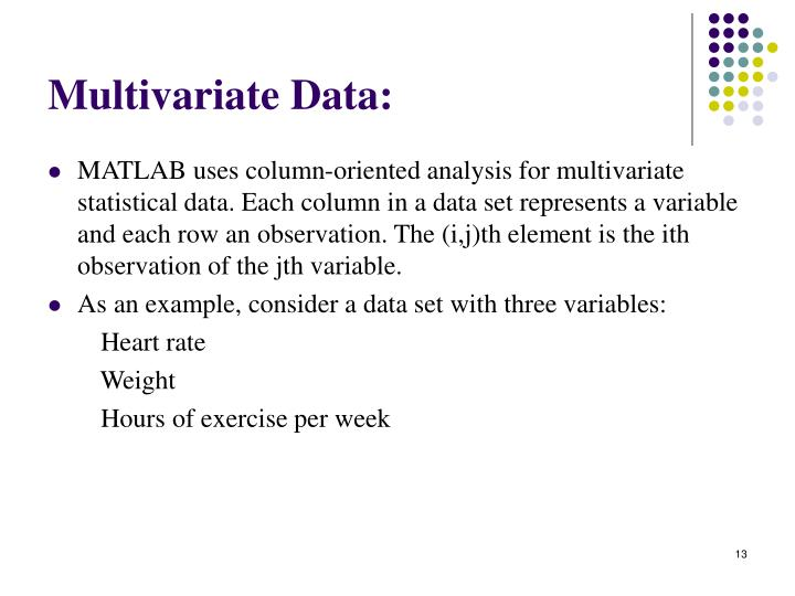 Multivariate Data: