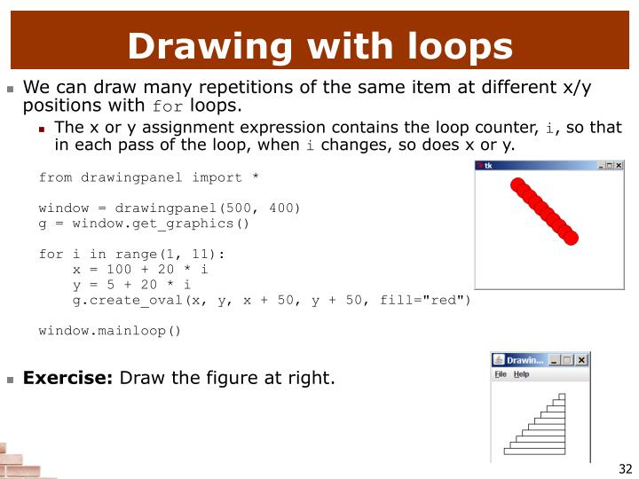 Drawing with loops