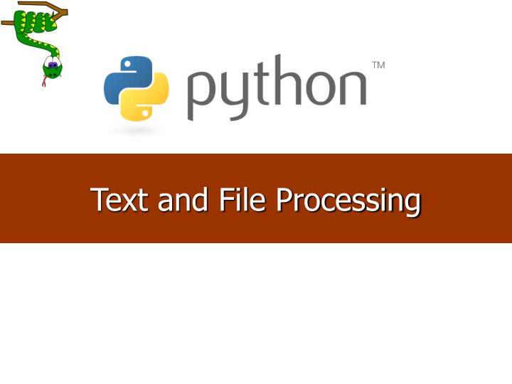 Text and File Processing