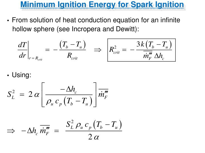 Minimum Ignition Energy for Spark Ignition
