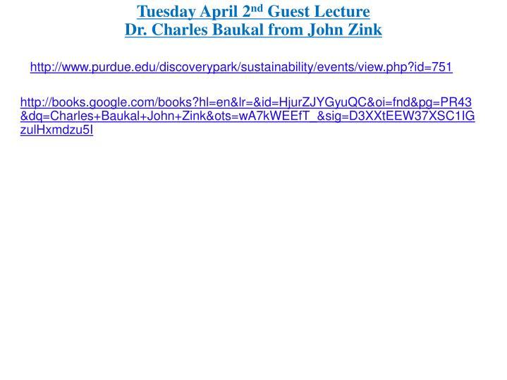 Tuesday April 2