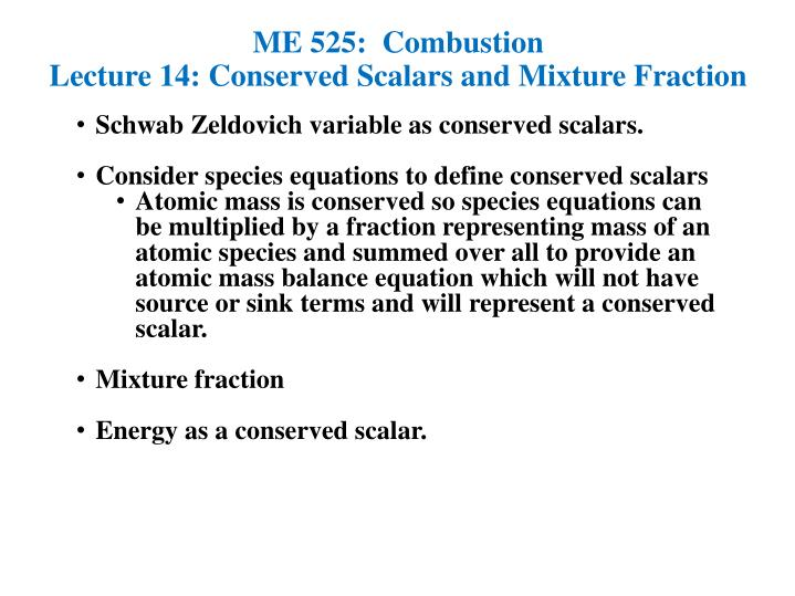 ME 525:  Combustion