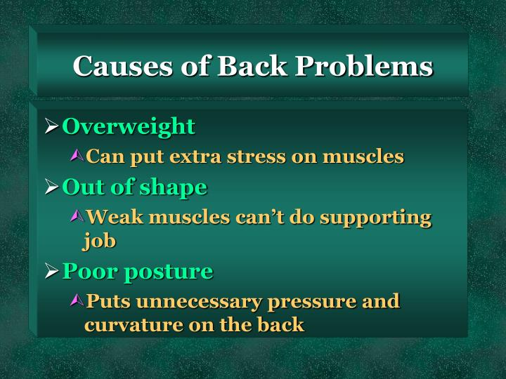 Causes of Back Problems
