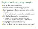 implications for reporting strategies