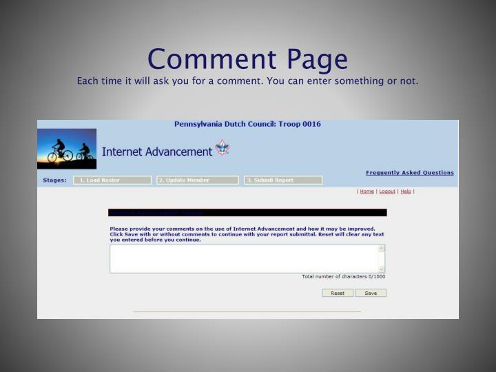 Comment Page