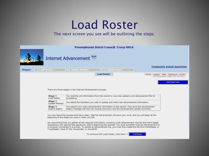 Load Roster