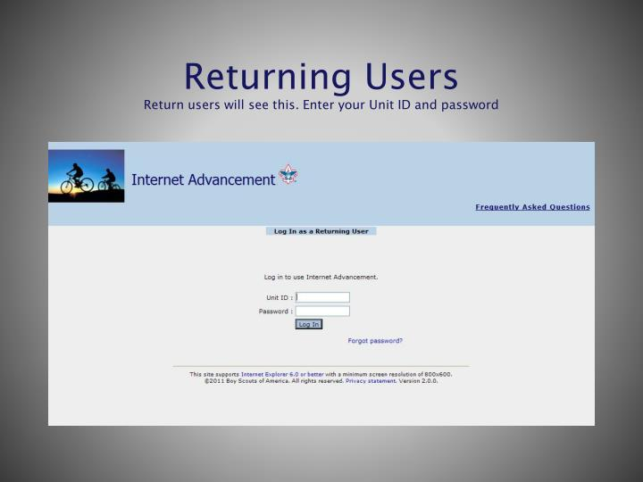 Returning Users