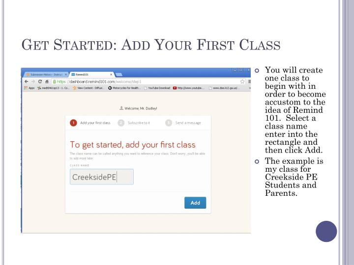 Get Started: Add Your First Class