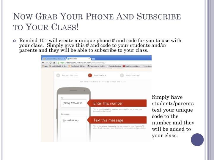 Now Grab Your Phone And Subscribe to Your Class!