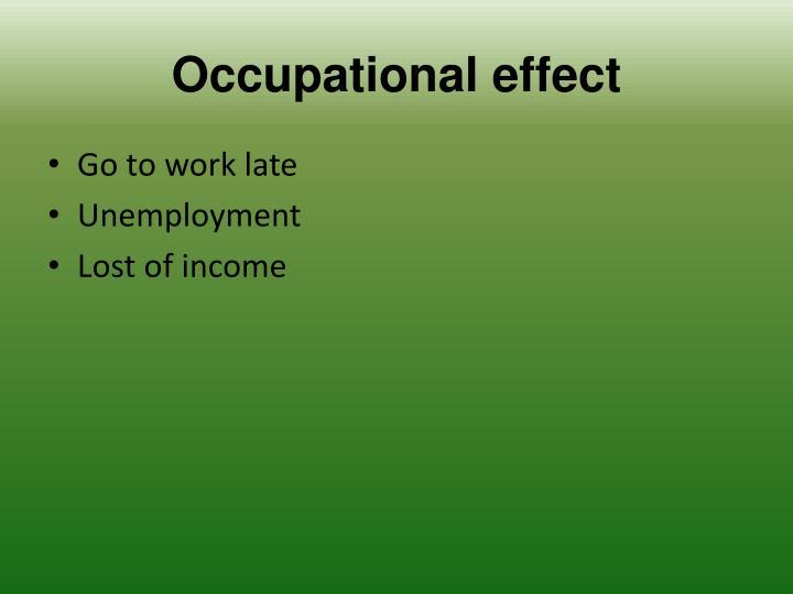 Occupational effect