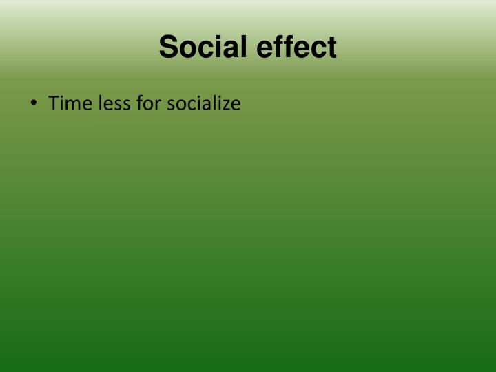Social effect