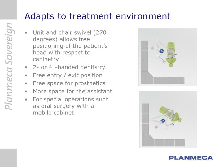 Adapts to treatment environment