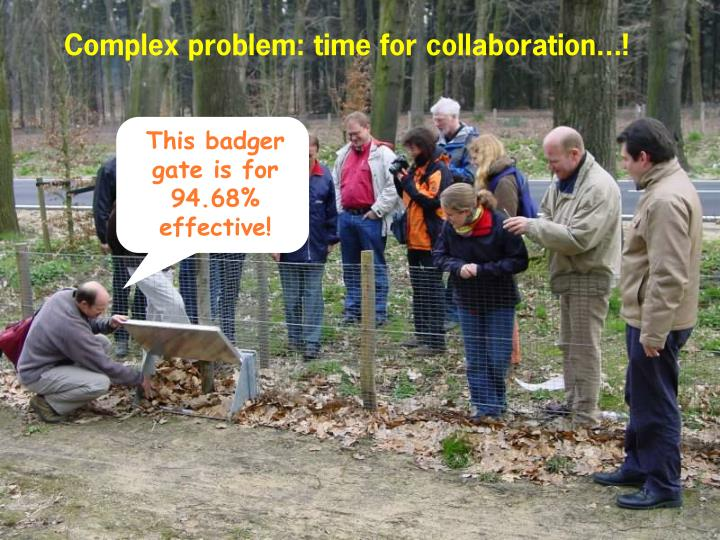 Complex problem: time for collaboration...!