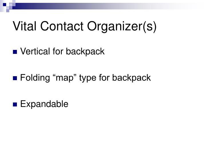 Vital Contact Organizer(s)