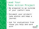 lead your take action project